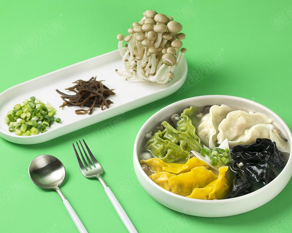菌汤全家福饺子