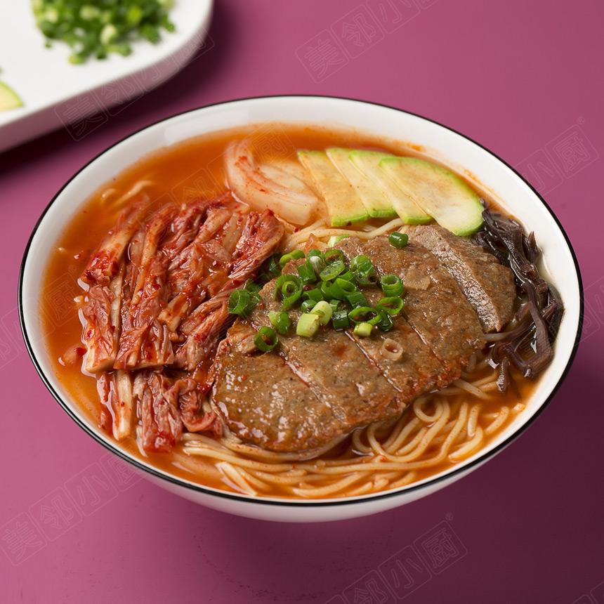 韩式泡菜牛排面