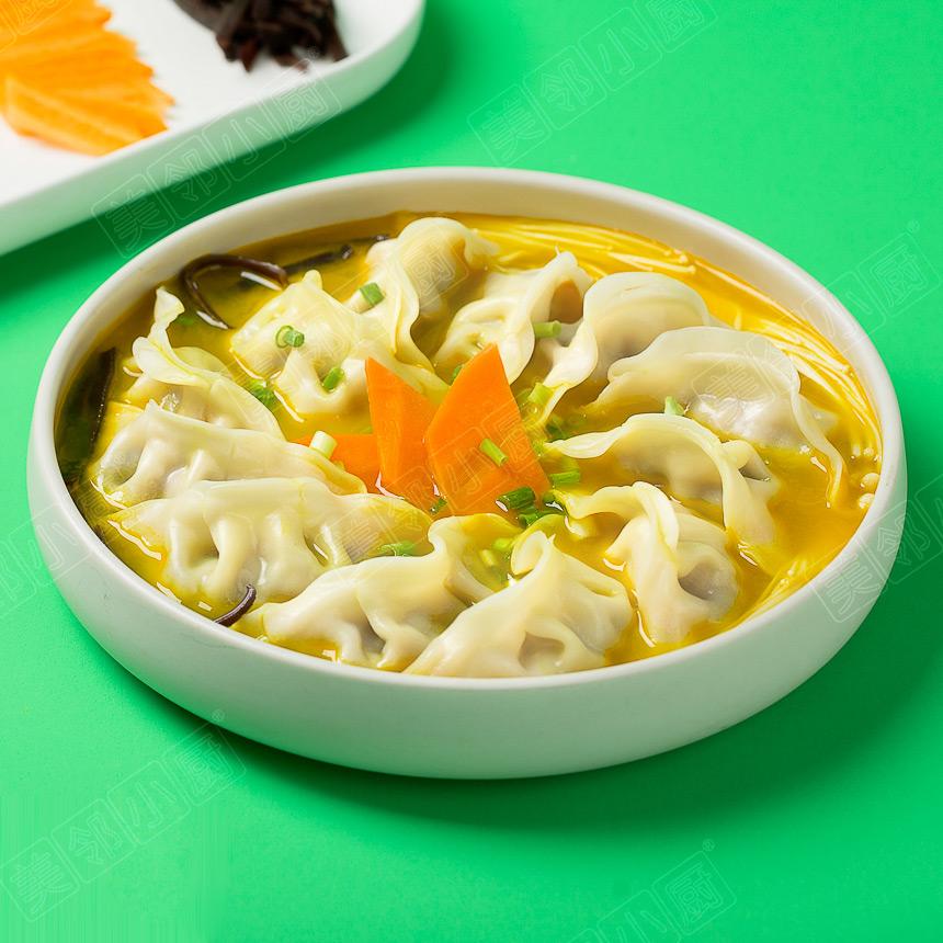 金汤香菇猪肉饺