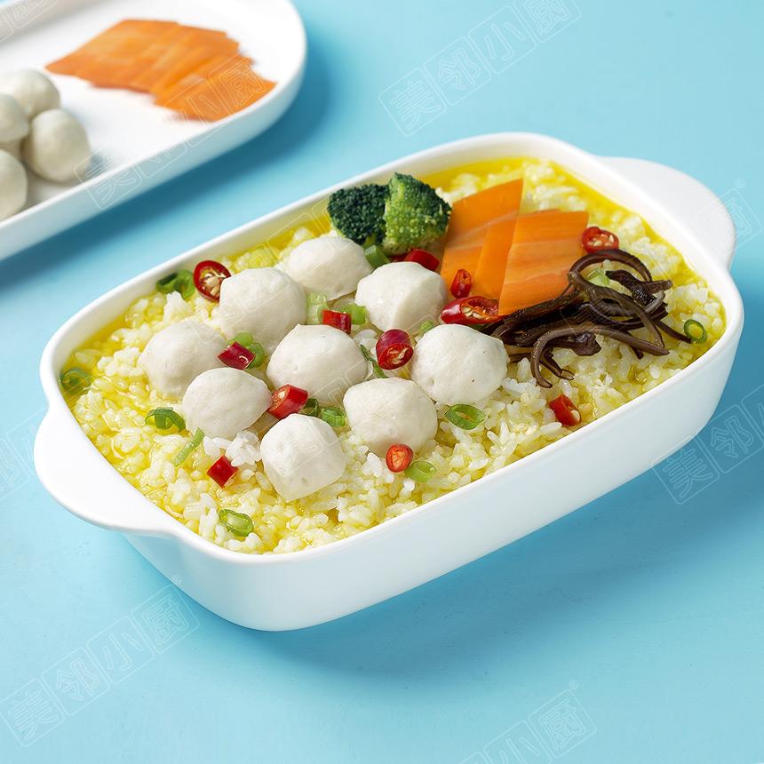 金汤鱼丸汤饭