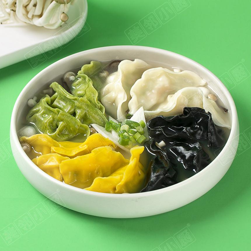 菌汤全家福饺