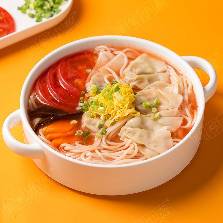 番茄玉米馄饨米线