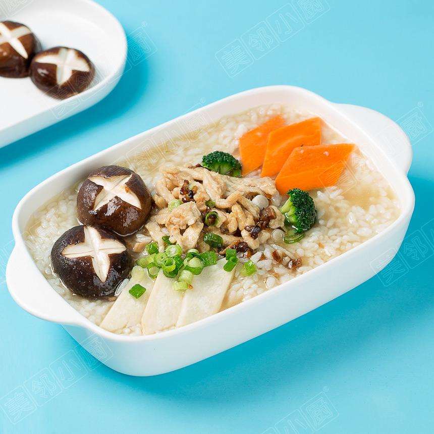 菌菇鸡丝汤饭
